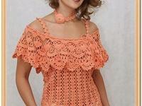blusas e vestidos de  tecidos  , croches & tricô