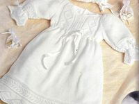 on Pinterest | Knitting Patterns, Christening Gowns and Baby Layette