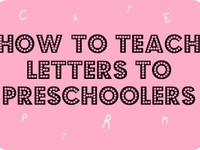 Letters and Alphabet for ages 2-4
