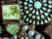 I love Native American jewelry both vintage and contemporary.  It helps that my favorite stone is turquoise...