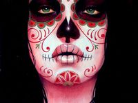 Day of dead,art,tattooed,sugar skull