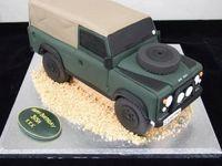 Land Rover Birthday Cake Raf Flight Safety Model Car
