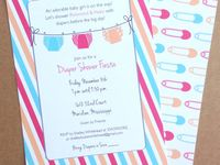 Party - Diaper Shower Invitations