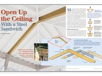 Open Up A Ceiling With A Steel Sandwich Vaulted Ceiling Bedroom Diy House Renovations Hip Roof