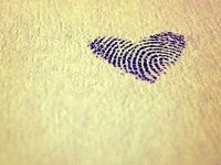 Fingerprint tattoo heart