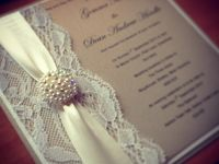 Lace / Lace is the perfect way to add a elegant and classy effect to your invitations.  Whether these be a pocket or flat style card!