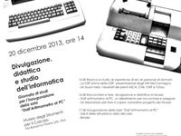 Eventi al Museo / Tutti gli eventi passati e futuri presso il Museo degli Strumenti per il Calcolo di Pisa