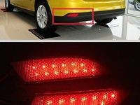 Details About For Ford Focus 2012 2013 Red Lens Led Rear Bumper