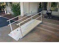 Ez Access Gateway 3g Aluminum Wheelchair Access Ramp With Handrails 1 000 Lb C Aluminum Wheelchair Ramps Wheelchair Ramp Wheelchair Ramps For Home