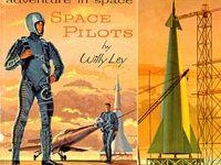 Retro sci fi, robots, spacemen, rocket ships and ray guns.