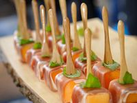 Coctail party snacks
