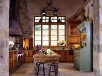 About Kitchens On Pinterest Log House Kitchen Kitchens And Islands