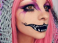 1000 bilder zu theatrical make up auf pinterest grinsekatze alice im wunderland und halloween. Black Bedroom Furniture Sets. Home Design Ideas