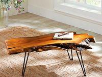 Rustique industriel en bois Round Side Table basse métal Épingle à Cheveux jambes 12 Couleurs