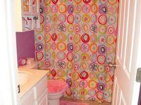 Girls Bathroom On Pinterest Girl Bathrooms Chevron Bathroom And
