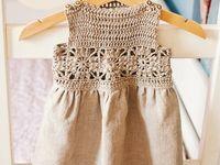 vestidos criança crochê tecido