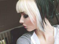 Blond und schwarze haare kind