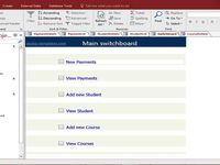 Access Student Database Course Fees Design Templates Access