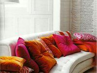 Pillows... cushions...poufs... ottomans