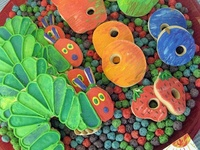 activities and ideas for Eric Carle books (Very Hungry Caterpillar party, puppets, and more)