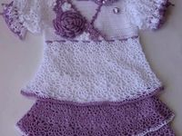 Vestidos e Casacos Crochet Bebê