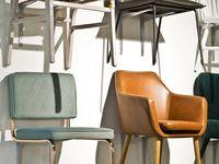 Pedrali Kuadra 1298 Stuhl Naturleder (Wunschfarbe im Bemerkungsfeld angeben)