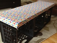 1000 Images About Milk Crate Furniture On Pinterest