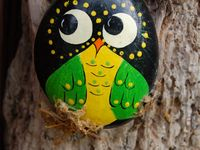 Painted stones crafts Pinterest board by CreativeMeInspiredYou.com