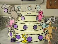 Elephant and Piggy Cake