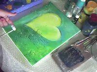 Acrylmalerei Motiv Rotes Herz Youtube Selbstgemachte