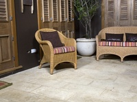 Ideas for the perfect patio, pathway and garden spaces created with concrete pavers.