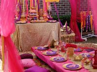 Khloes Arabian theme party