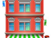 Adult Storefronts Coloring Page
