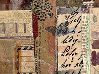 Collage van stof