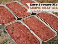 Freezer meals on Pinterest | Cooking 101, Meat Loaf and Pot Roast
