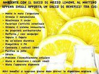 Acqua e limone purificante