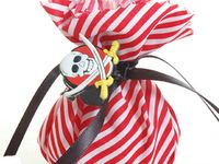 6 Pack Pirate Party Bags Lovely Chubblies Smiling Faces Kids Boys Party Gift Bag