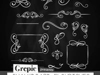 On Pinterest Clip Art Chalkboard Clipart And Design Elements