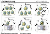 17 beste afbeeldingen over rekenen geld op pinterest munten wiskunde en poster. Black Bedroom Furniture Sets. Home Design Ideas