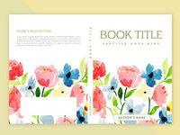 تصميم غلاف الكتاب مع ألوان مائية الزهور و أوراق ألوان مائية اللون زهري Png والمتجهات للتحميل مجانا Book Cover Design Cover Design Floral Watercolor