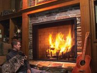 1000 images about free standing fireplace on pinterest for Rumford fireplace insert