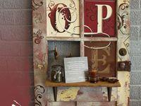 Old, vintage, repurposed, prims and door handles.