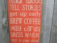 Cabin signs...