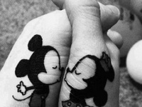 I love Disney and i just love how creative people are with Disney Tattoos.