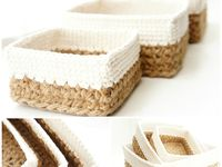 crochet stacking baskets