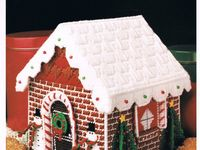 Xmas DIY Decoration Kit Plastic Canvas Gingerbread House Christmas 3D Cross Stitch Kit Counted Modern Cross Stitch Hand Embroidery 3D Kit