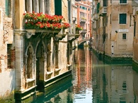"""Asked what may be the leading color in the Venetian concert, we should inveterately say Pink, and yet without remembering after all that this elegant hue occurs very often. It is a faint, shimmering, airy, watery pink; the bright sea-light seems to flush with it and the pale whiteish-green of lagoon and canal to drink it in. There is indeed a great deal of very evident brickwork, which is never fresh or loud in color, but always burnt out, as it were, always exquisitely mild.""