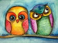 Illustrations - Owls