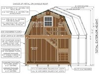 11 best images about garage ideas for camp on pinterest for Gambrel apartment garage plans