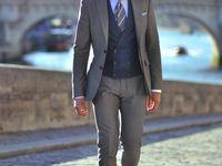 Mens King Big Plus Size XL Albert Check Tweed Herringbone 2 Piece Suit By Cavani